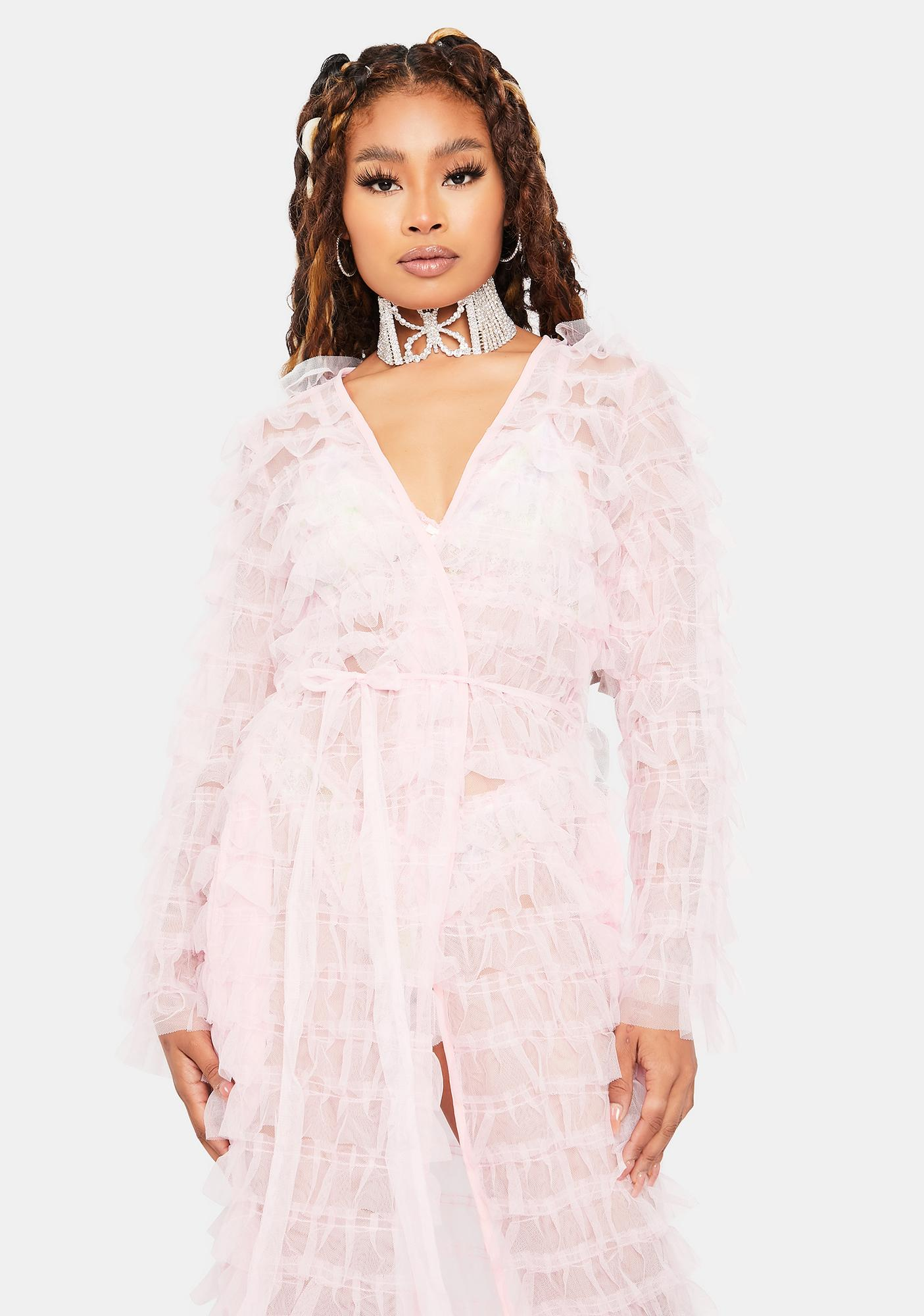 Baby Add Some Drama Sheer Robe