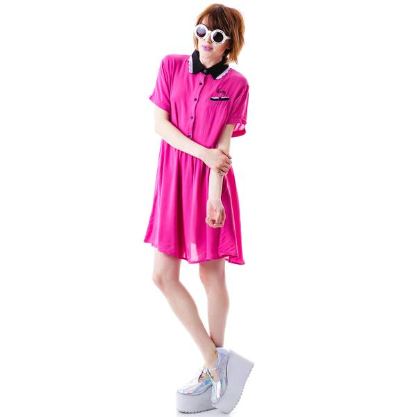Lazy Oaf Pink Lady Dress