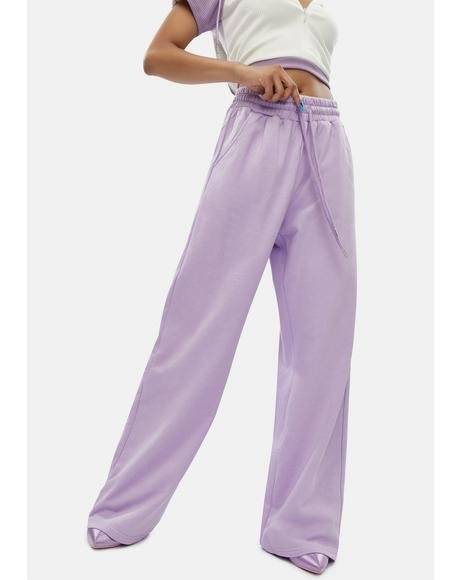 Flashing Lights Wide Leg Lounge Pants