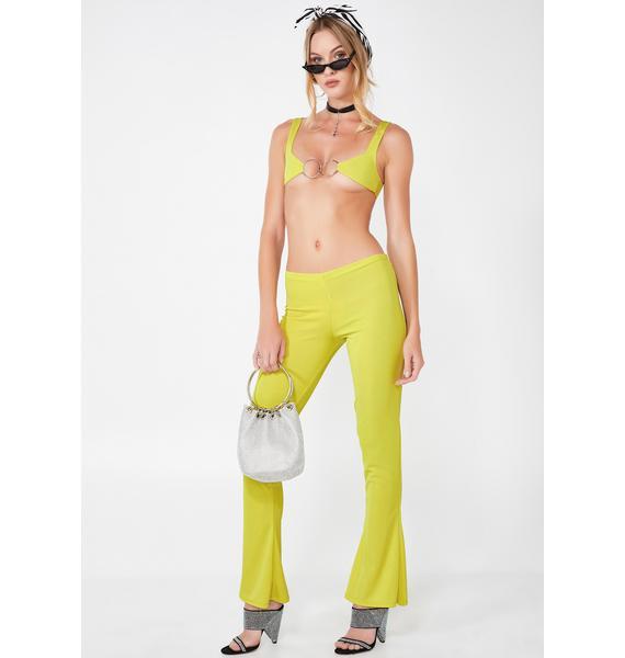 Plugged NYC Neon Flare Pants