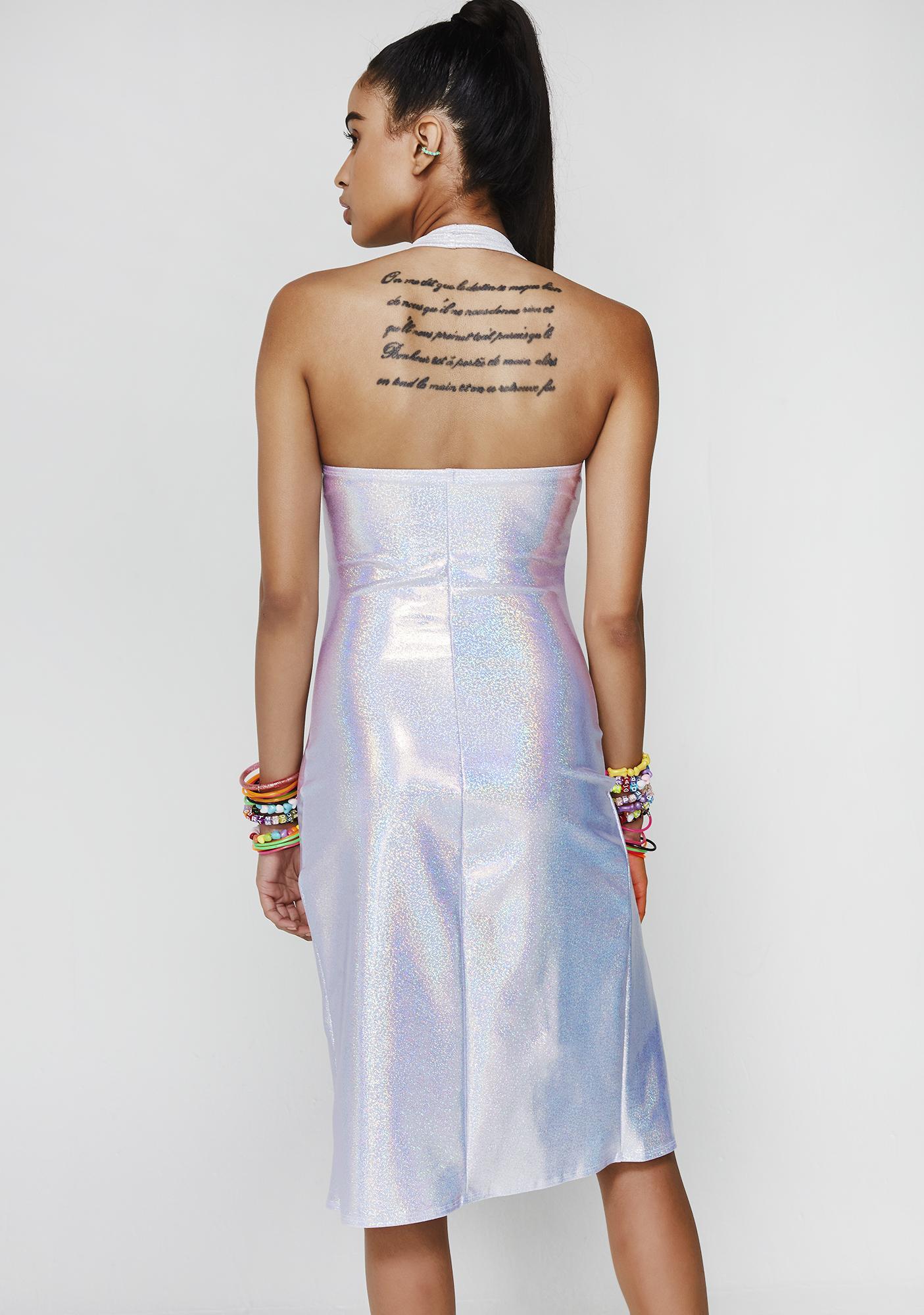Hologram Sleek Freak Slit Dress