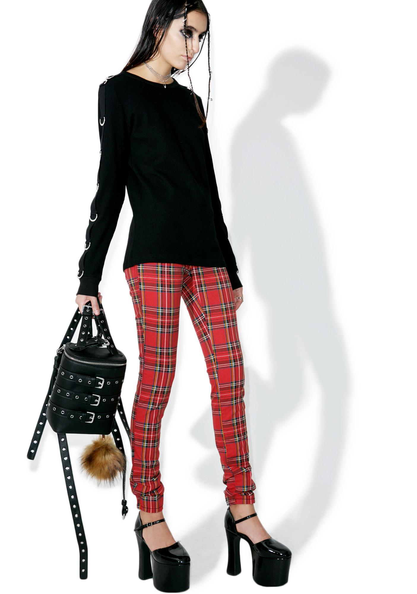 Tripp NYC High Waisted Plaid Pants