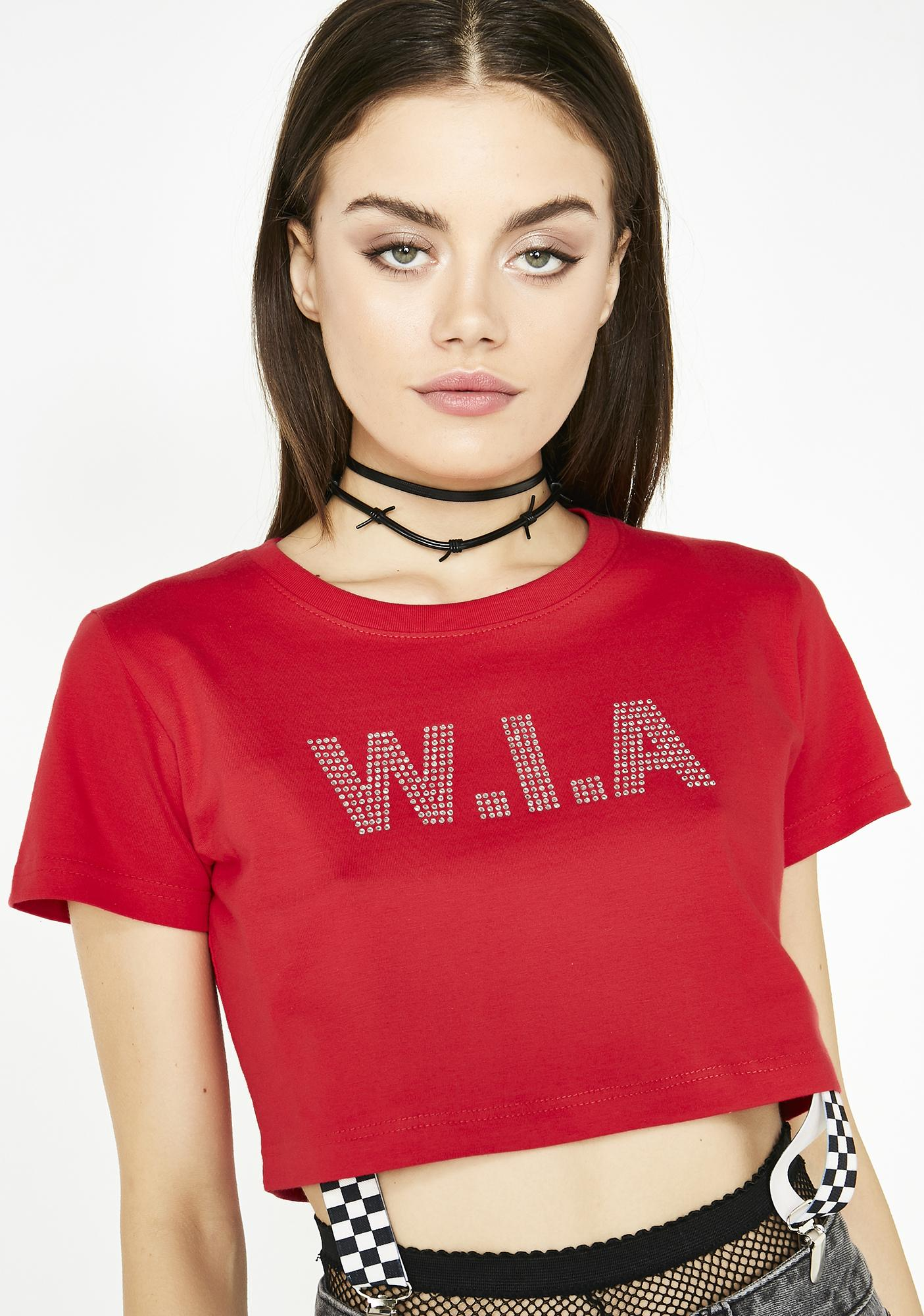 W.I.A Perturbed Crop Top