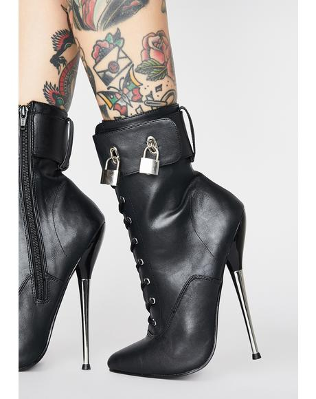 Lust Locked Up Stiletto Boots