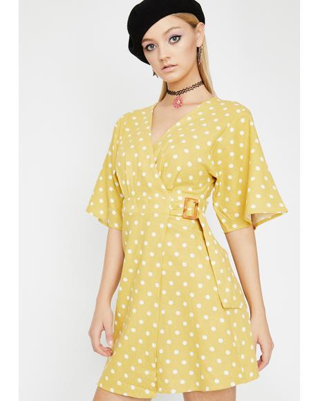 Serene Paradise Polka Dot Dress