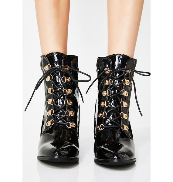 Midnight Maxed Out Lace-Up Boots