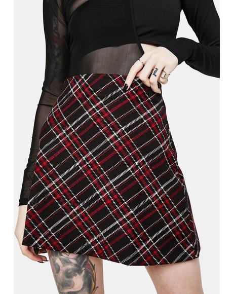 Kensington Plaid Mini Skirt