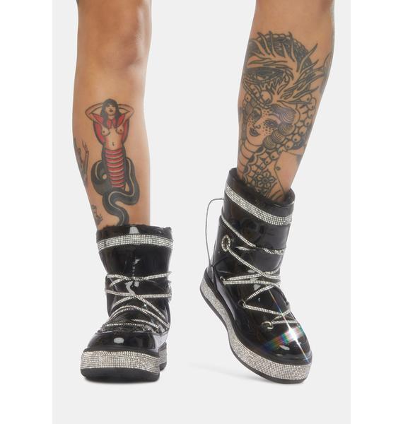 AZALEA WANG Black Take Me Away Ankle Boots