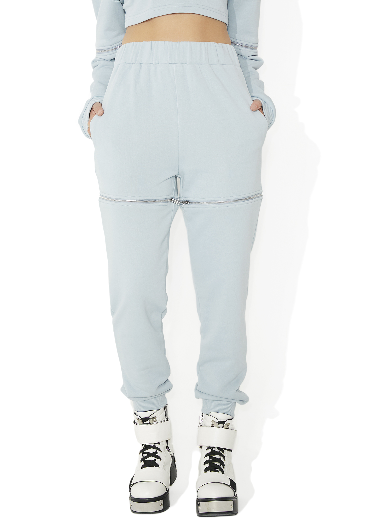 Light Blue Zip Off Sweatpants