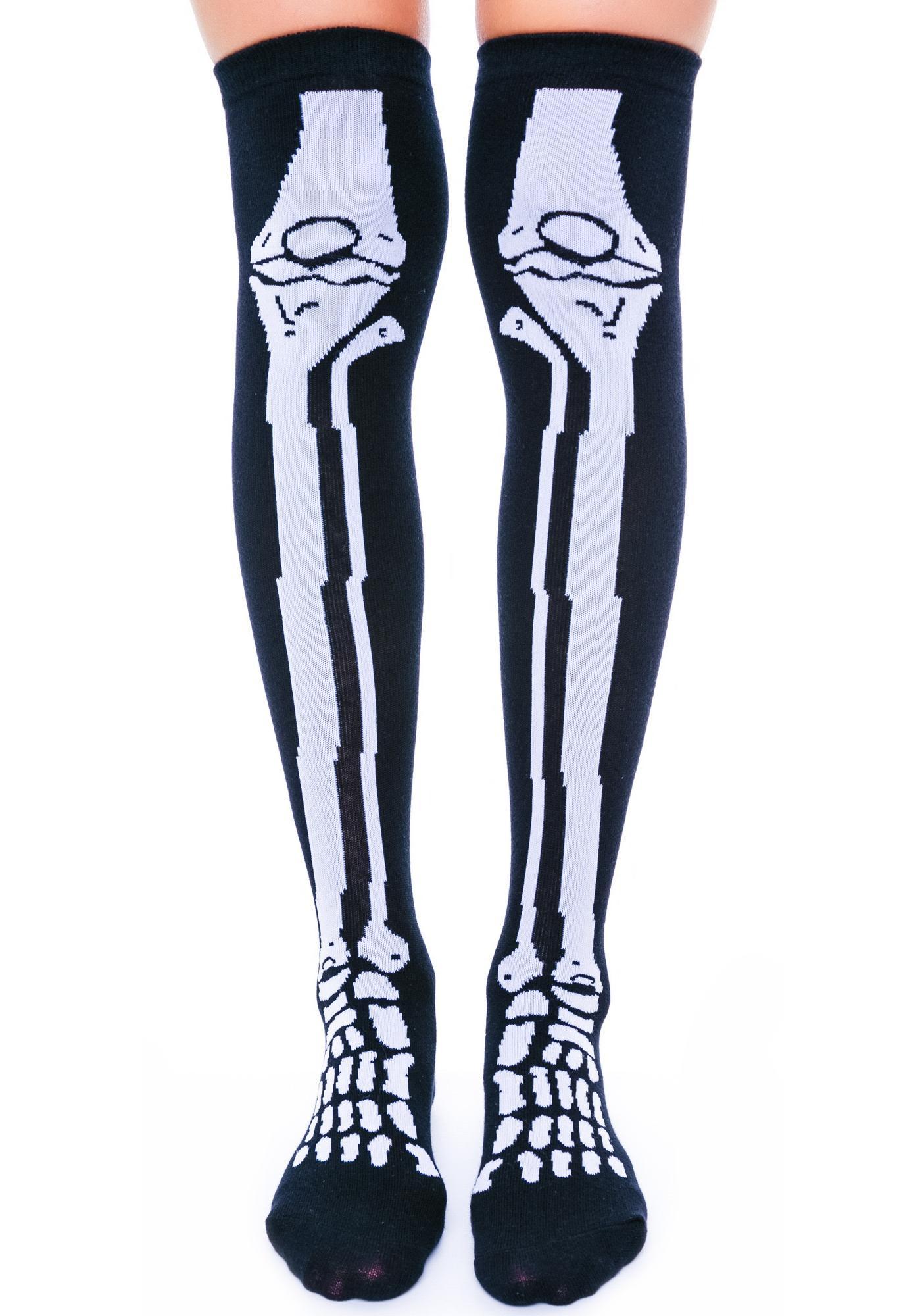 I Wanna Bone Knee Socks