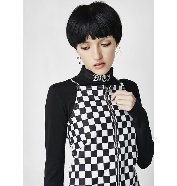 LOVE TOO TRUE Checkered Zip It Dress