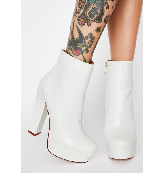 AZALEA WANG White Gotta Have It My Way Platform Boots