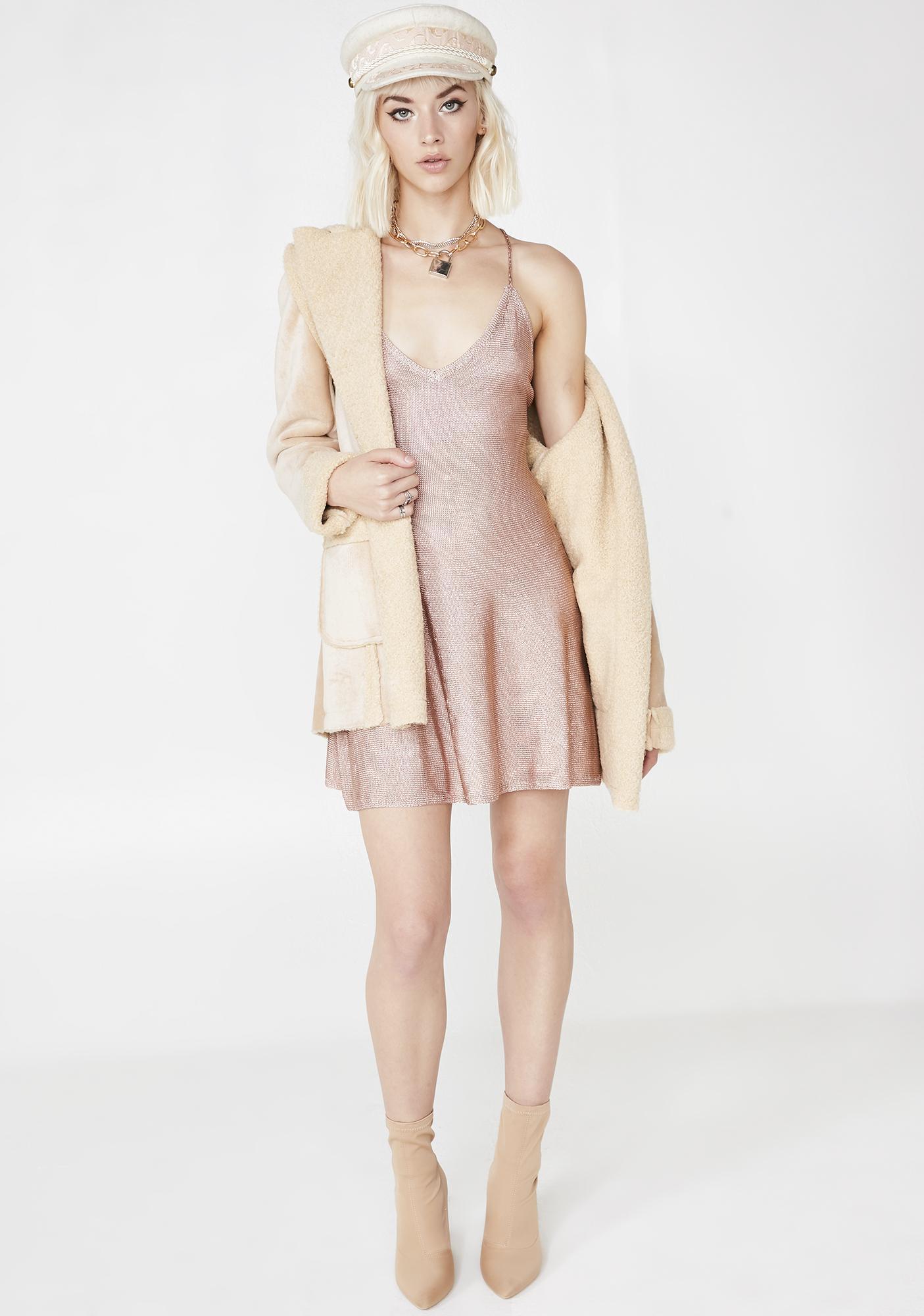 Champagne Wishes Mini Dress