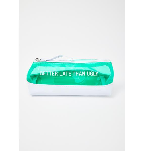 ABOUT FACE Better Late Makeup Bag