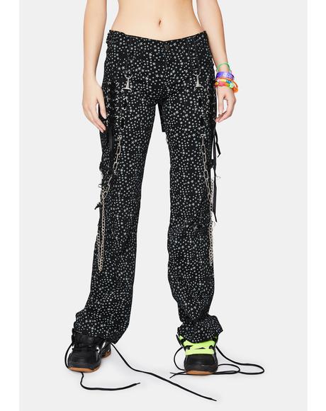 Star Plat Chain Pants