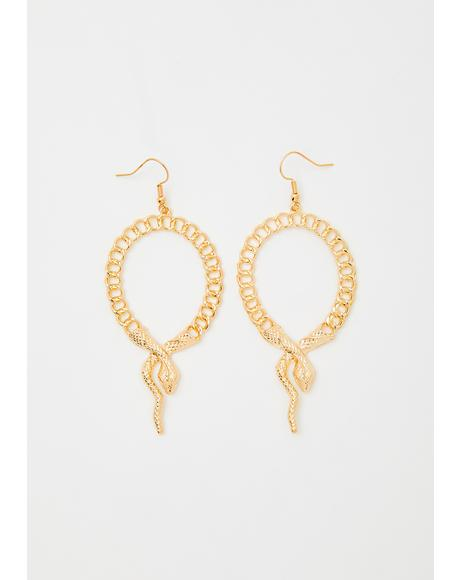 Slitherin' Around Snake Hoops