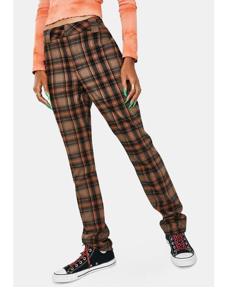 Auburn Black Plaid Pants