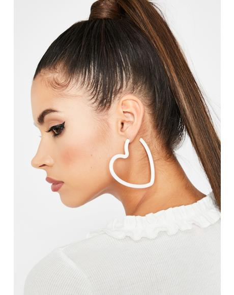 Innocent Crushin' Cute Hoop Earrings