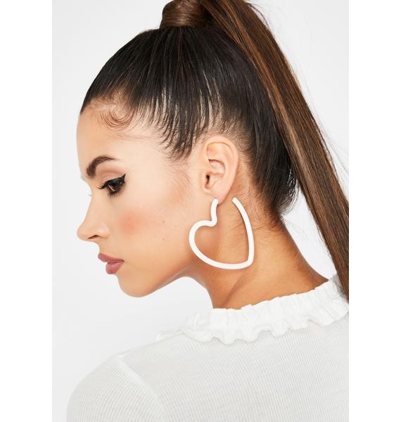 Innocent Crushin' Cute Hoop Earrings