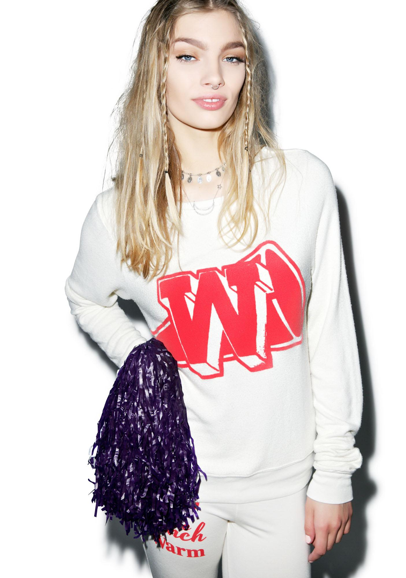 Wildfox Couture Roll Call Baggy Beach Jumper