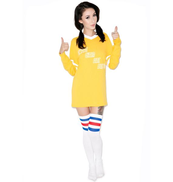 United Couture Smart Girls Football Long Sleeve Tee