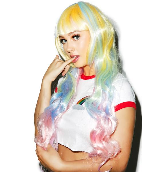 Ice Cream Pastel Princess Wig