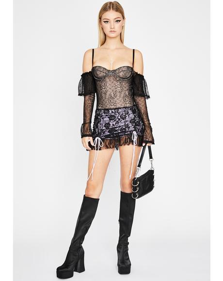 Freaky Flirt Lace Bodysuit