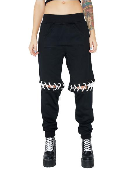 Ill Will Lace-Up Sweatpants