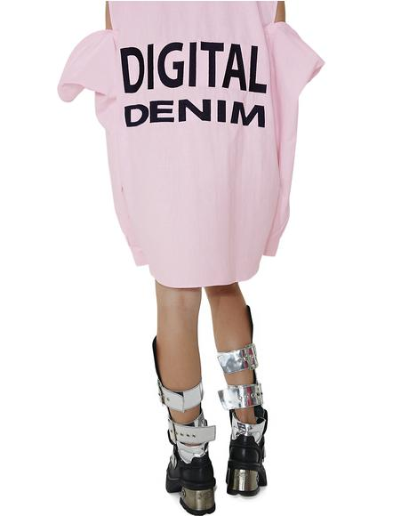 Digital Denim Sleeves Shirt
