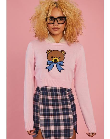 Huggable Honey Cropped Sweater