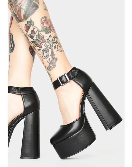 High Self Esteem Mary Jane Platforms