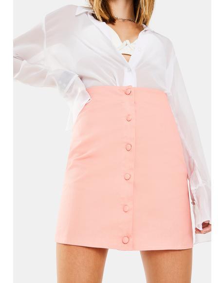 Coral Mini Skirt
