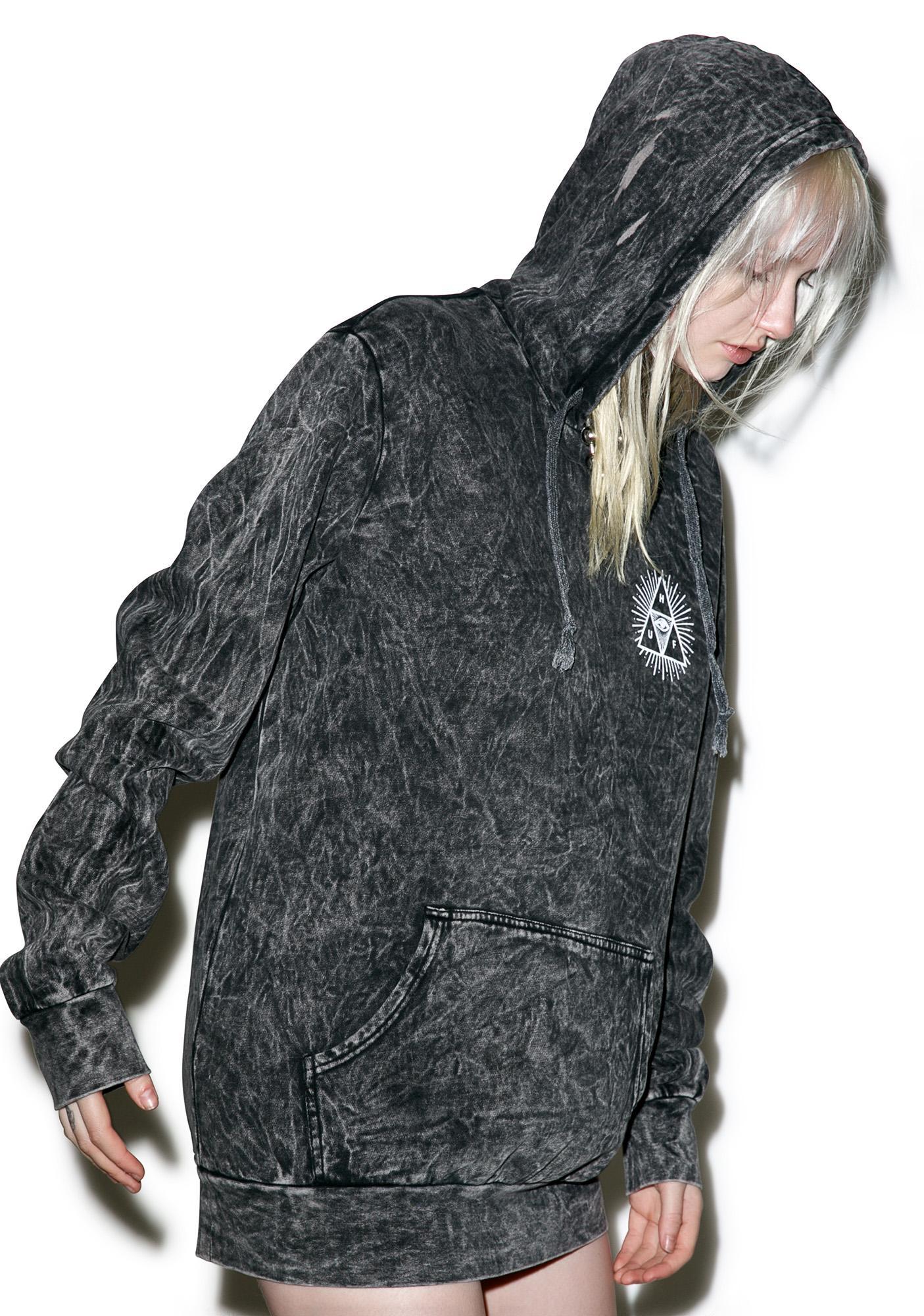 Acid wash hoodie