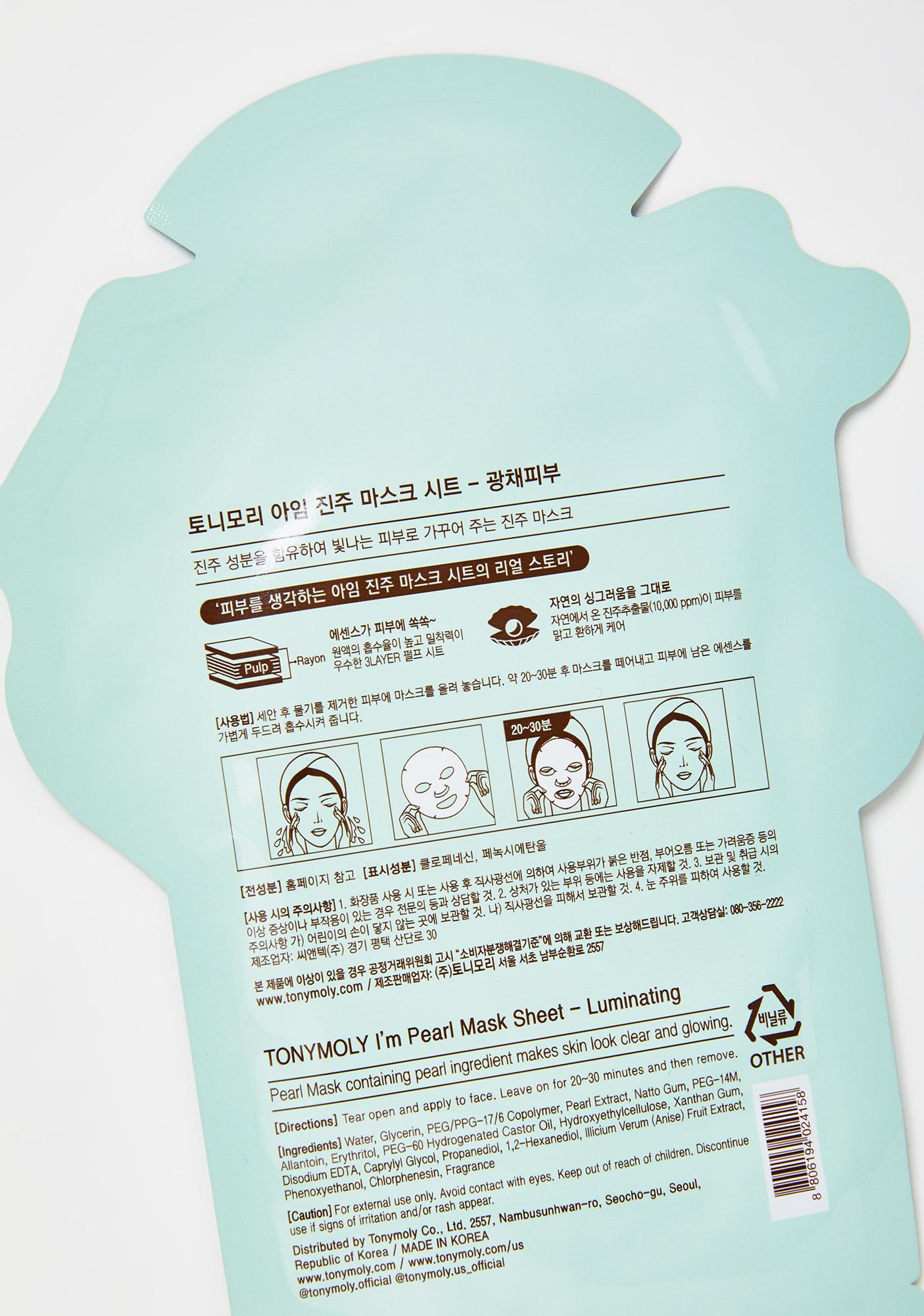 TONYMOLY Pearl I'm Real Sheet Mask