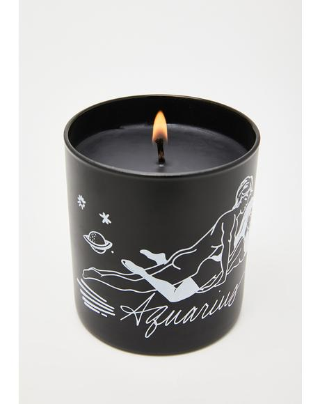 Aquarius Zodiac Massage Candle