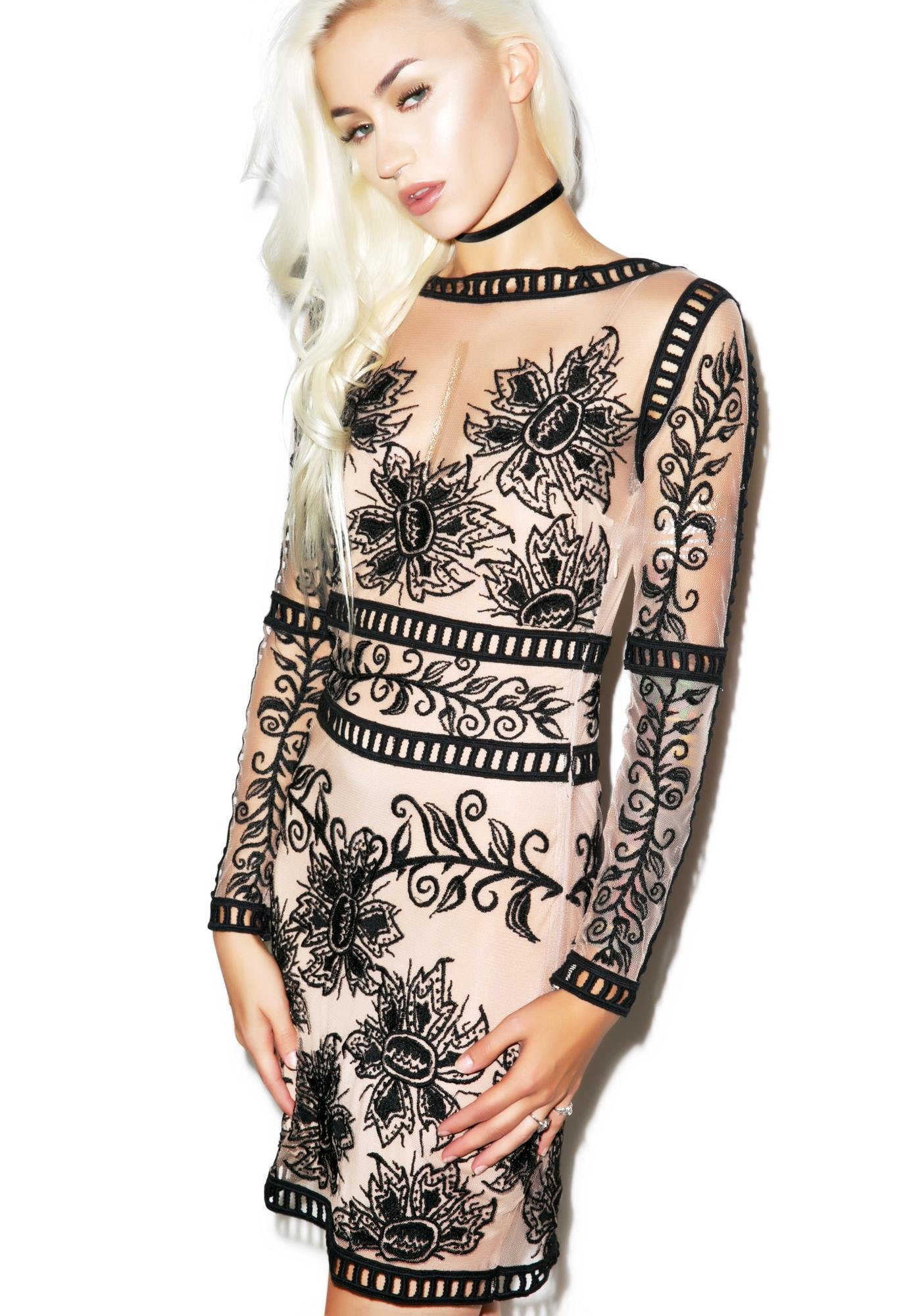 For Love & Lemons Desert Nights Mini Dress