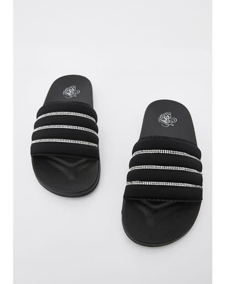 If I Was Rich Rhinestone Slides