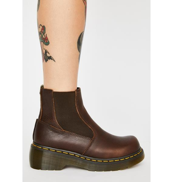 Dr. Martens Brown Oates Chelsea Boots