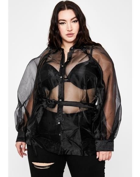 Noir My Mainstream Montage Organza Blouse