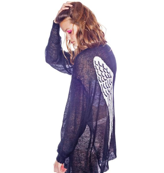 Wildfox Couture Send Me An Angel Manhattan Cardigan