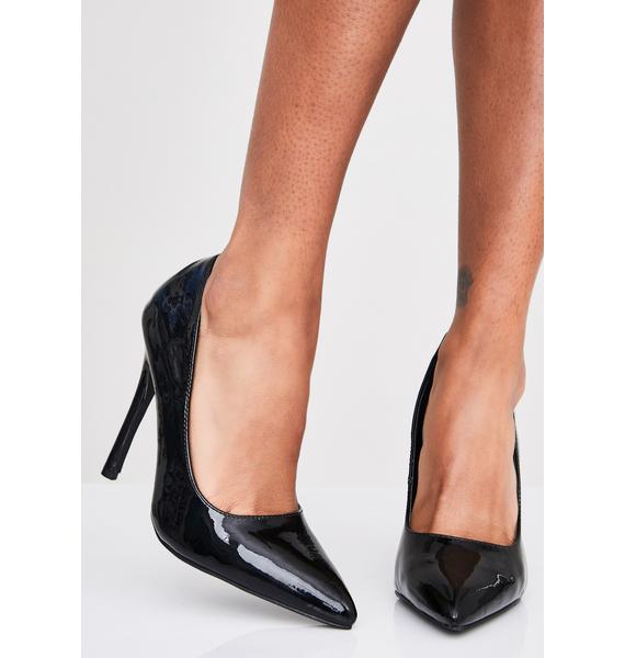 Patent Bish'ness Casual Stilettos