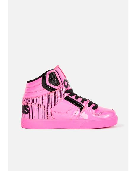 Neon Pink Clone Sneakers