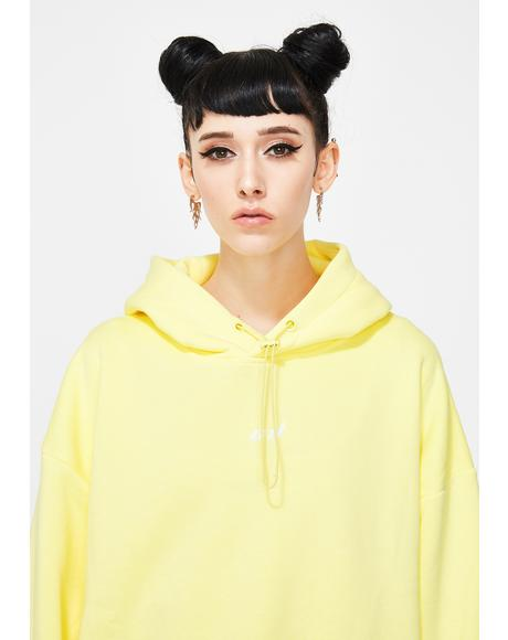 Yellow Oversized Hoodie