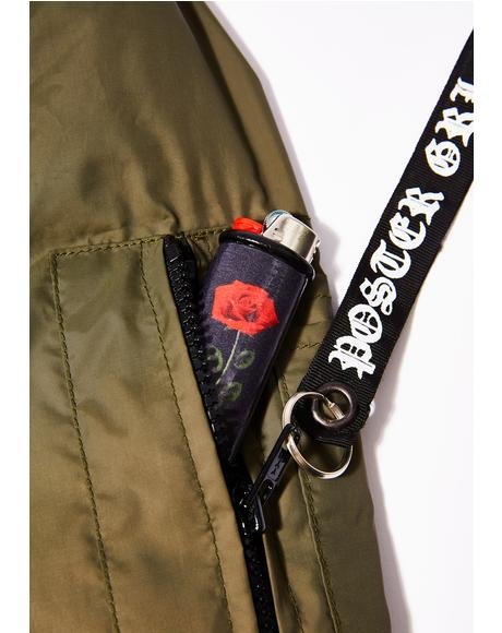 Black Rose Lighter Case