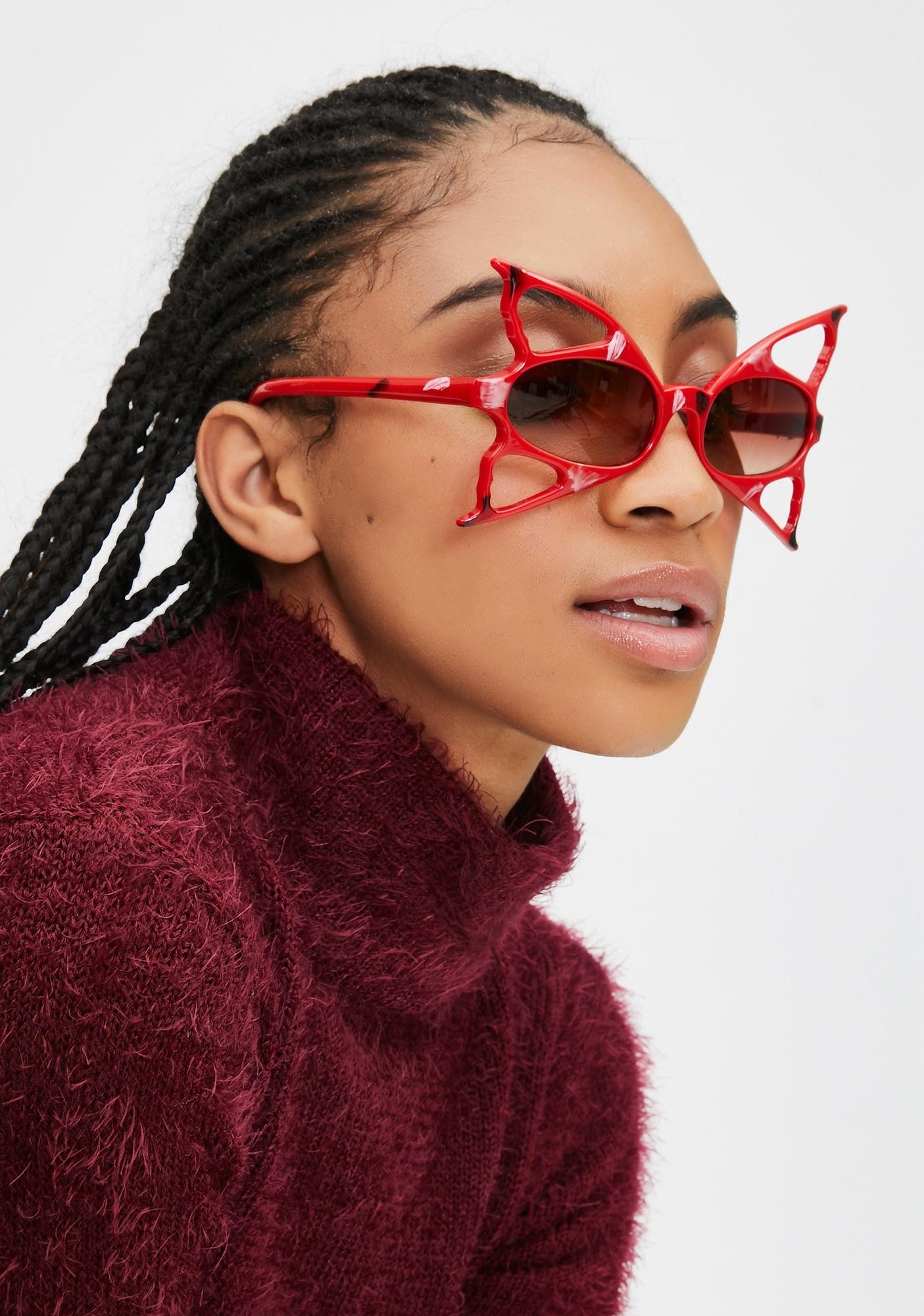 Good Times Eyewear Red Butterfly Fantasy Sunglasses