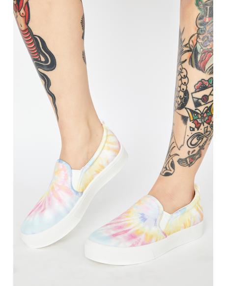 White Poppy Hippie Hype Slip On Sneakers