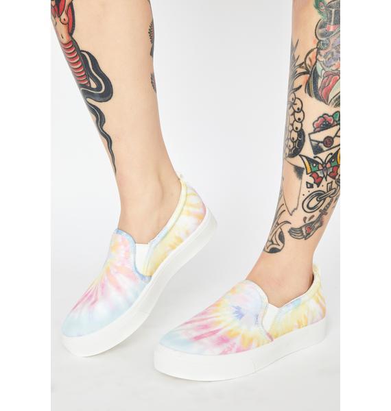 Skechers White Poppy Hippie Hype Slip On Sneakers