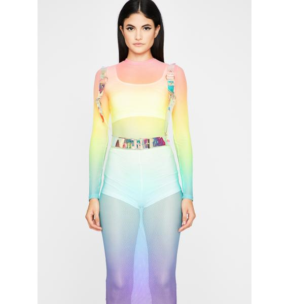 Spectral Fluidity Maxi Dress