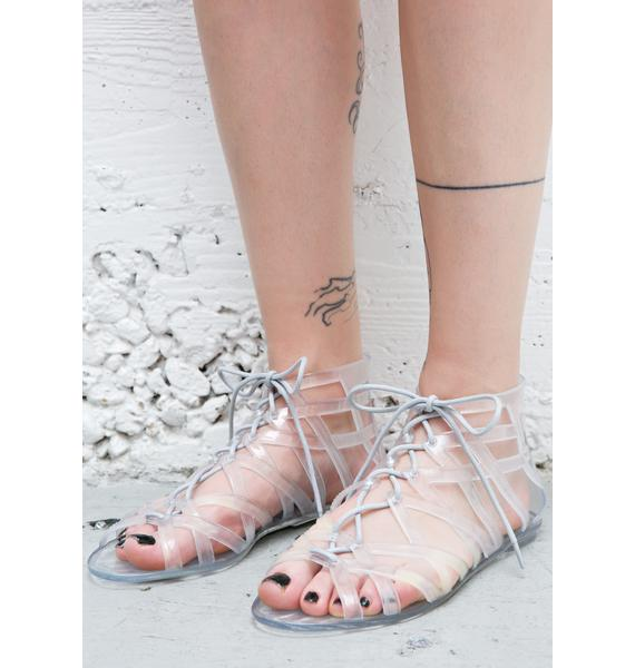 Loved Up Jelly Gladiator Sandals