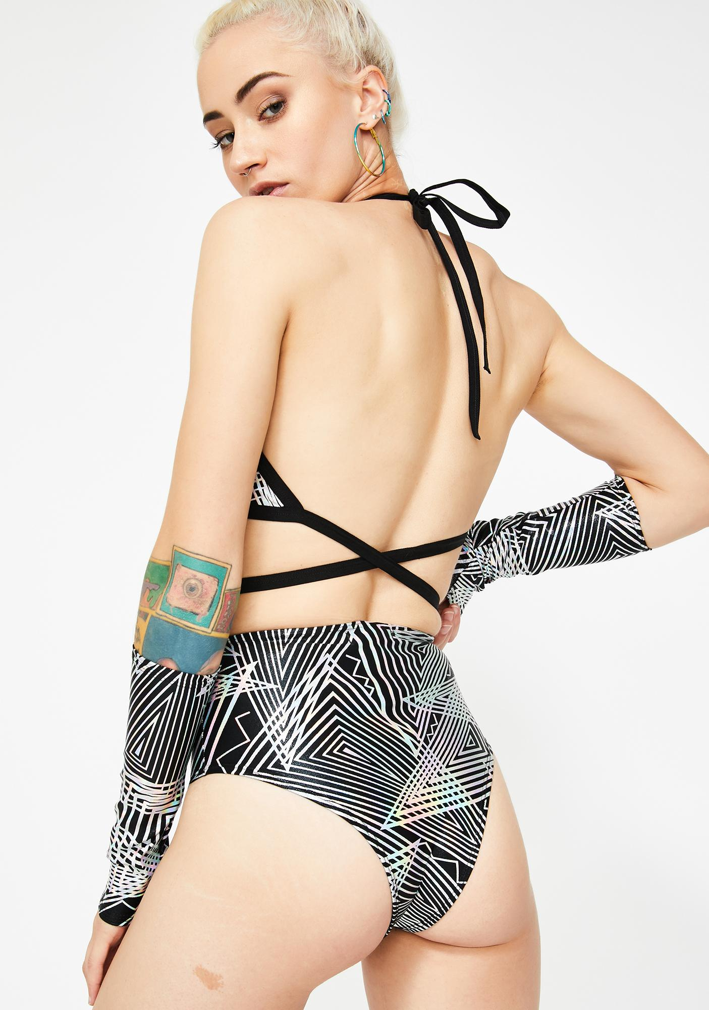 The Lyte Couture Tantric High Waist Shorts